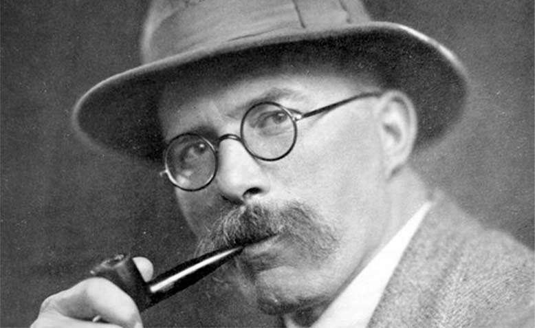 Arthur Ransome. Photo: Hugh Lupton