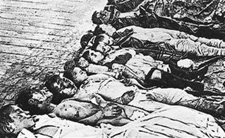 The results of a pogrom in Ekaterinoslav 1905. Note the dead are mainly children.